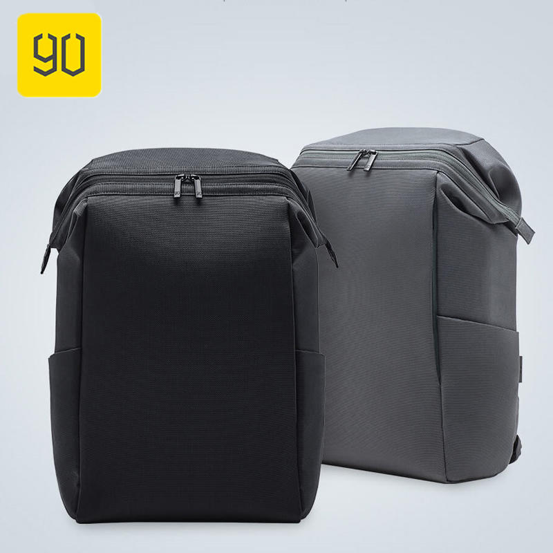 2 Color Xiaomi 90FUN Bag Commuter Backpack Barrel Opening 4 Levels Of Water Repellent Simple And