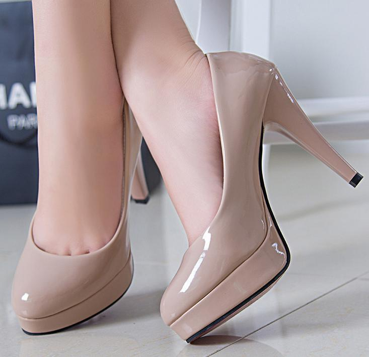 Aliexpress.com : Buy 2015 new sexy high heels shoes women nude ...
