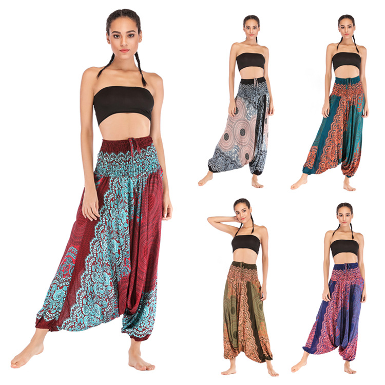 2019   Wide     Leg     Pants   Mujer Vadim Elastic Waist High Hot Sale Special Offer Flat Women Free Shipping Leisure Loose   Pants   Female