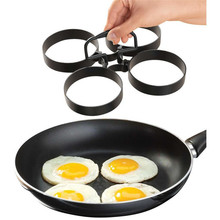 4pcs/set Stainless steel Pancake Maker Egg Ring Nonstick Easy Fantastic Omelette Mold Kitchen Gadgets Cooking Tools