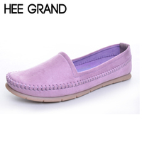 Loafers Shoes Woman 2016 Soft Flock Slip Ons Breathable Flats Spring Pregnant Women S Shoes Drop