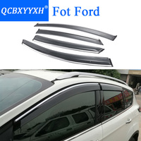 QCBXYYXH Car Styling Awnings Shelters Window Visors Rain Eyebrow For Ford Focus Fiesta Mondeo Kuga Ecosport