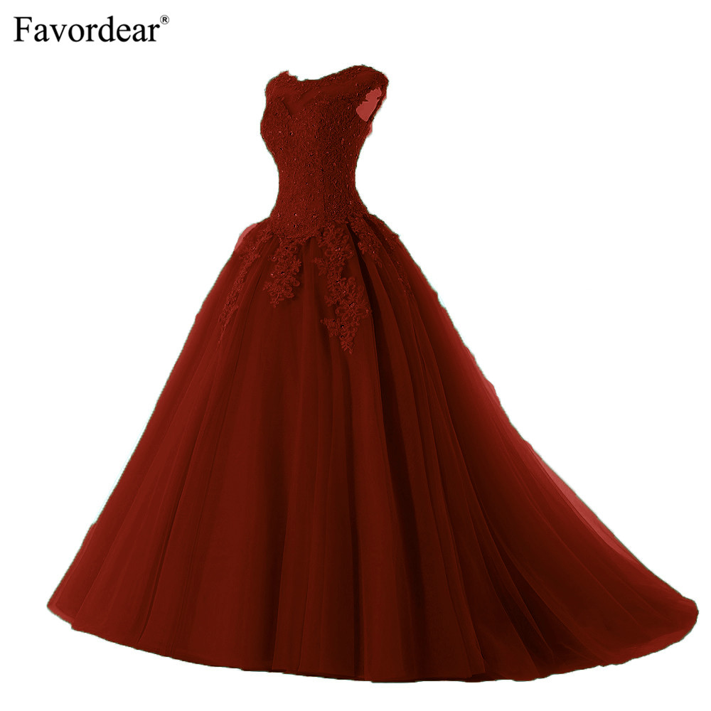 Favordear 2019 Quinceanera Beading Sweet 16 Dress Vestidos De 15 Anos Cap Sleeve Teal Burgundy Quinceanera