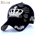 xthree gold embroidery crown baseball cap parent child cap Kids snapback caps for women men girl cotton hat Boys bone summer