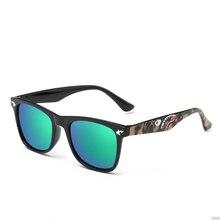 ROUPAI Brand Kids Camouflage Sunglasses Baby Military Goggles Glasses Girls Boys Mirror Coating Eyewear Flat Shark Oculos Infan