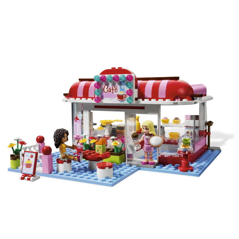 toy 10162 Friends City Park Cafe Blocks Bricks Toys Girl Game House Gift Compatible with toy Toys Sluban 3061 10162 friends city park cafe building blocks bricks toys girl game toys for children house gift compatible with lego gift