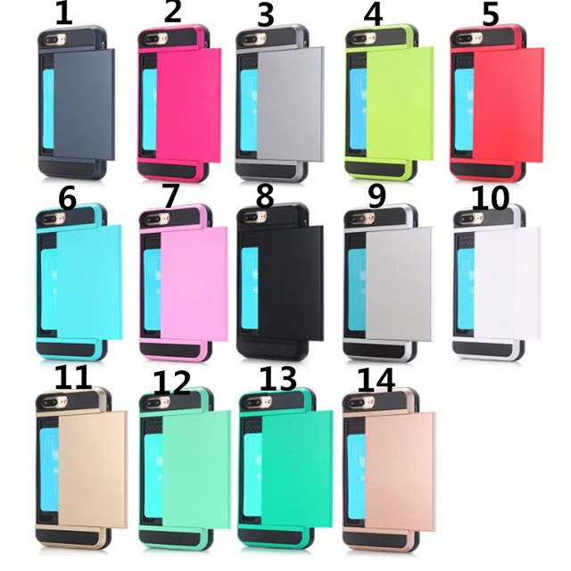 COOL 2in1 Luxury Shockproof Armor Wallet ID Layer <font><b>Phone</b></font> Hard Back Cover <font><b>Case</b></font> For iPhone 6 6S 4.7&#8243; With <font><b>Slide</b></font> Card Back <font><b>Cases</b></font>