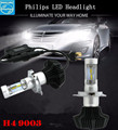 Pair Turbo 7th 9003 P43T Led Headlight Bulb Conversion Kit-H4 160W 16000Lm 6500K Cool White Hi/Lo Beam Led Car Headlight