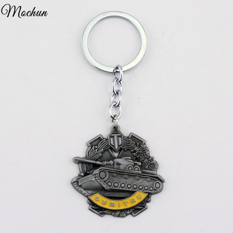 MQCHUN Wargaming WOT World of Tanks Cool Pendent Keychain Metal Keyrings Key Chain Gift For Men Portachiavi Porte Clef Jewelry