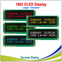 Real OLED Display, Military Level Larger 1602 162 Character LCD Module Screen LCM build in WS0010, Support Serial SPI