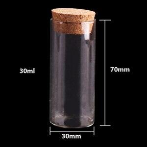 Image 4 - 15ml/25ml/30ml/35ml/40ml/50ml/60ml pequeno tubo de teste com rolha de rolha garrafas frascos diy artesanato 24 peças