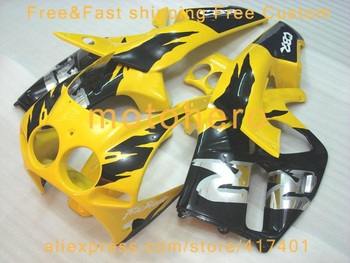 Injection molding  Yellow Black fairing for Honda CBR250RR MC22 fairings kit 1990-1994  CBR250 VN27