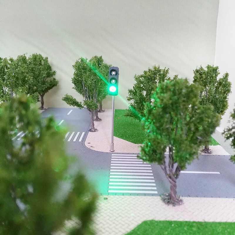 3 kolor ruchu sygnały świetlne Ho Oo Model w skali 6Led dla Diy piaskownica stołowa przekraczania ulicy budowy kolejowego dwie boczne