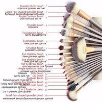 12/18 Pcs makyaj fırçalar set Profesyonel makyaj araçları Kozmetik Makyaj için Fırça seti Vakıf Fırça kiti pinceaux maquillage