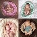 2017 5 novas cores-nascido 250g lã Torção corda acessórios fotografia pano de Fundo Da Foto do bebê Prop mão de malha Traje Gancho 4 m