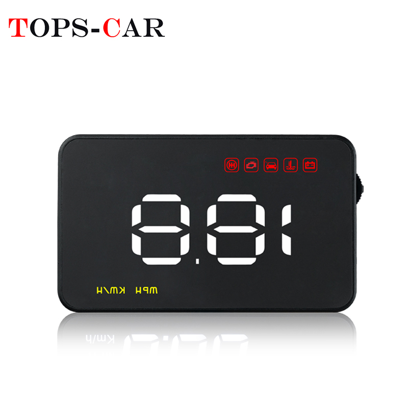 Geyiren A1000 Car Hud Obd Ii Head Up Display Overspeed Warning System Projector Windshield Auto Electronic Voltage Alarm Exquisite (In) Workmanship