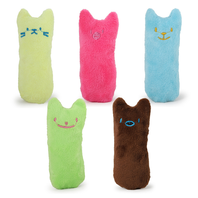 Cat Toys 3PCS Catnip Filled Thumb Expression Plush Pet Cat Toy Interactive Chewing Toys for Kitten and Doggy Resistant to Bite