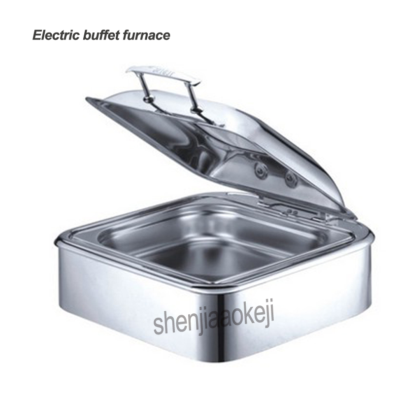 YD-L017 Square buffet furnace Electric heating stove stainless steel insulation furnace 220v 400w 1pcYD-L017 Square buffet furnace Electric heating stove stainless steel insulation furnace 220v 400w 1pc