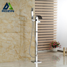 New Floor Mount Bath Clawfoot Tub Filler Faucet Bathtub Handshower Mixer Taps Free Standing