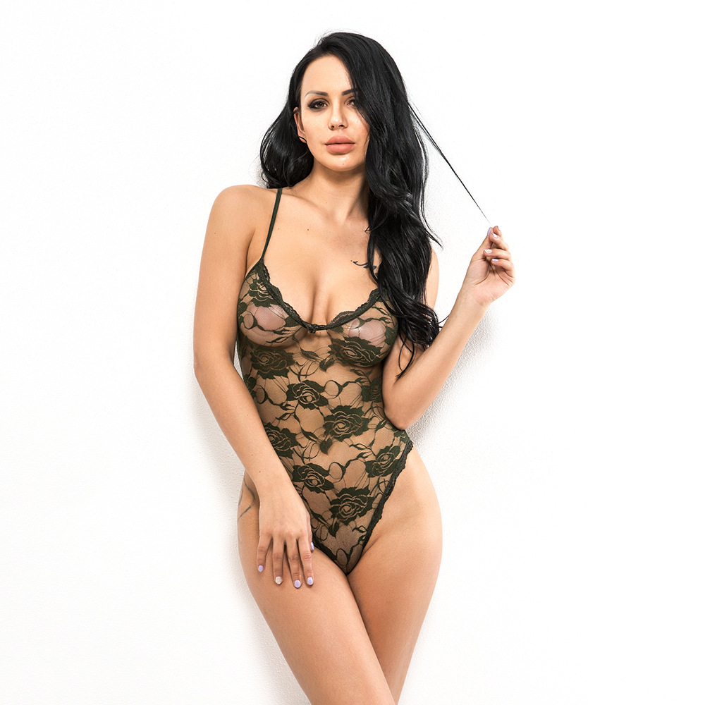 body suit black lingerie bodysuit sexy one piece womens geometric lace women christmas 2019 fashion wear for girls plus size in Teddies Bodysuits from Novelty Special Use