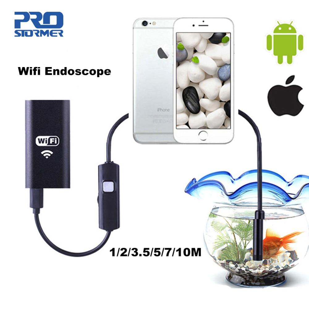 PROSTORMER Wifi Endoscope Camera Android 720P Iphone Endoscope Camera Waterproof Endoscopio Android iOS Boroscope Camera 4|Borescopes| |  - title=