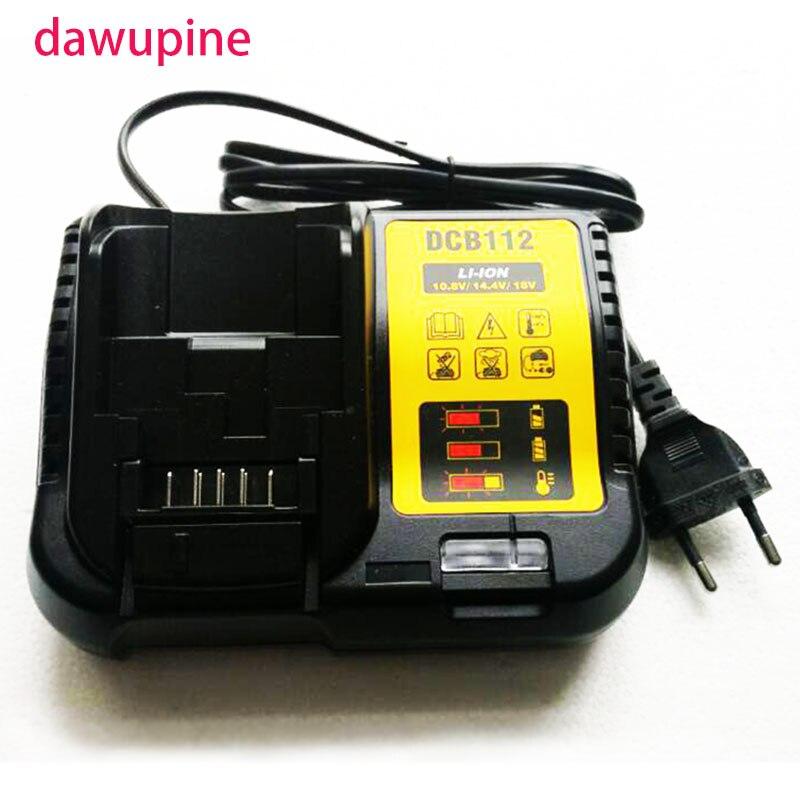 dawupine DCB112 Li-ion <font><b>Battery</b></font> <font><b>Charger</b></font> For <font><b>DeWalt</b></font> 10.8V 12V 14.4V 18V DCB101 DCB200 DCB140 DCB105 DCB200