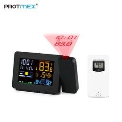 Reloj de Proyección PROTMEX PT3391 con función de repetición de fecha Digital proyector giratorio de retroiluminación multifuncional