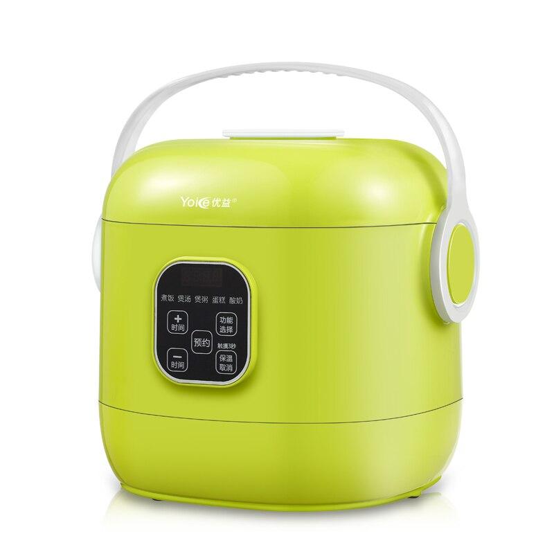 Yoice Portable Mini Multi Auto Rice Cooker 2L for 1 4 People Soup Porridge Cake Yogurt Maker Machine