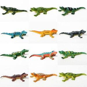 Image 4 - 12 adet eğitim gerçekçi sürüngen aksiyon figürleri ile set dinozor kertenkele timsah kaplumbağa mükemmel parti Model oyuncaklar