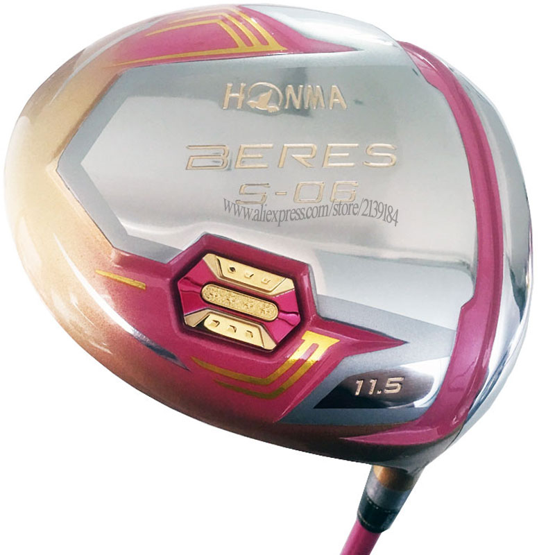 Cooyute New Women Golf Clubs HONMA S-06 4 Star Golf Driver 11.5 Loft Clubs Driver With Graphite Golf Shaft Free Shipping