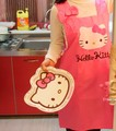 Size 73*60 Adult Fits Kawaii Hello Kitty Women Lady's Kitchen Dress Cloth Robe ; Kitchen Cotton Cooking Dress