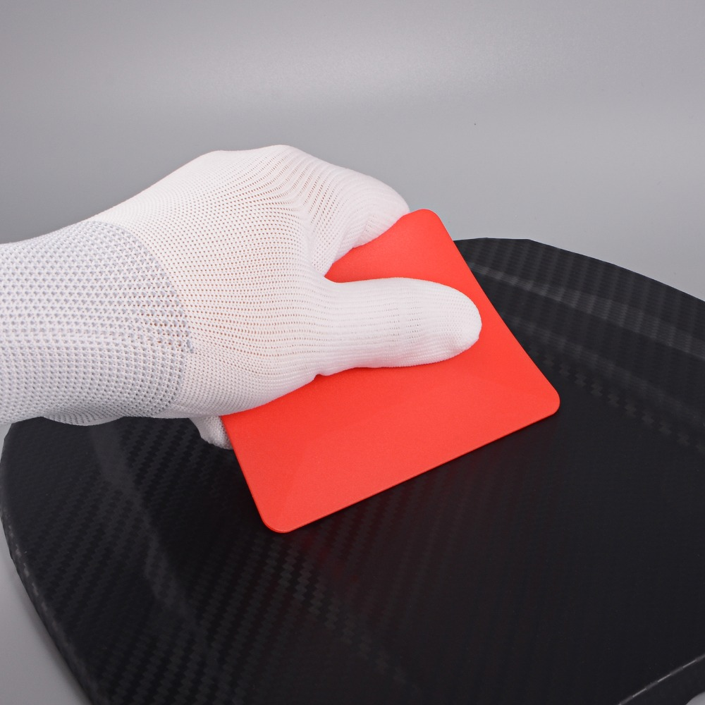 FOSHIO Teflon Card Squeegee Carbon Fiber Vinyl Tinting Tool Car Window Foil Film Wrap Tools Car Decal Sticker Auto Accessories