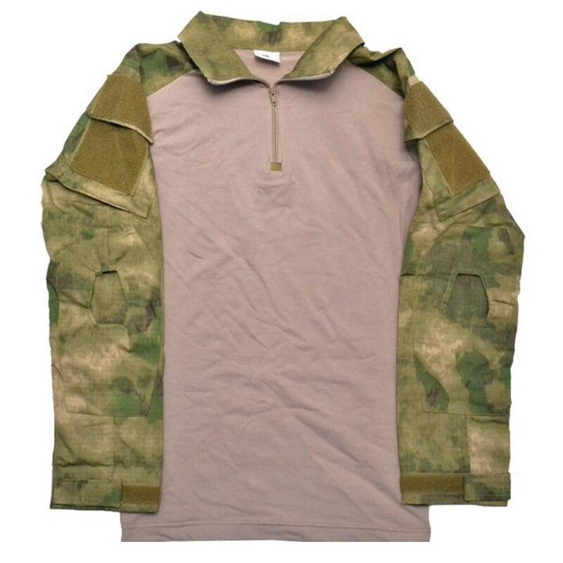 bdu combate camisa com almofadas cotovelo A-TACS fg