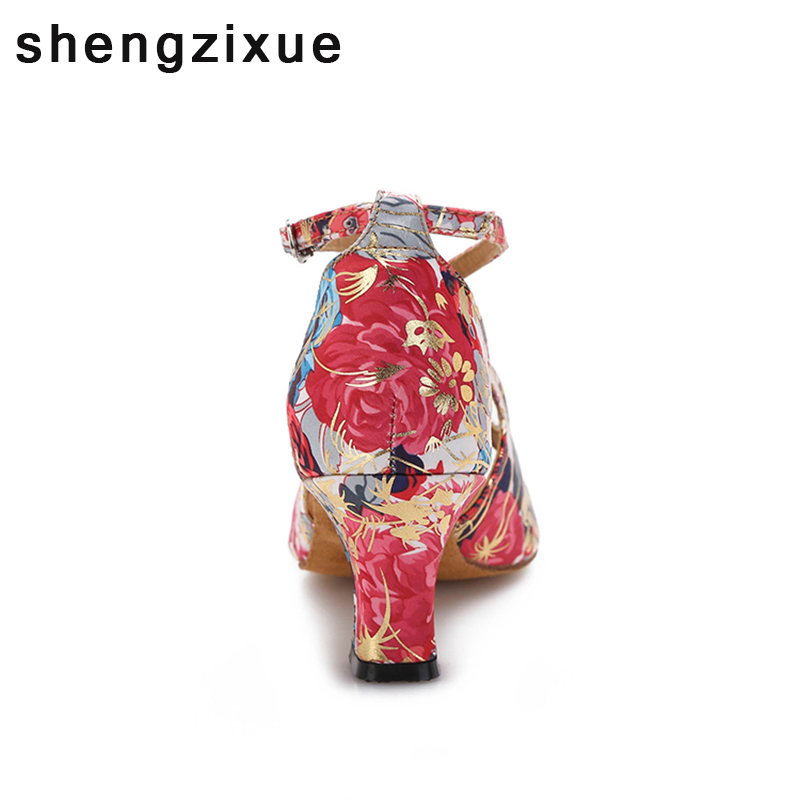 shengzixue 6CM 8.7CM Heel Flower Color Material Lady Salsa Dance Shoes  Latin Ballroom Shoes US 4.5 12-in Dance shoes from Sports   Entertainment  on ... d2e21c6052d4