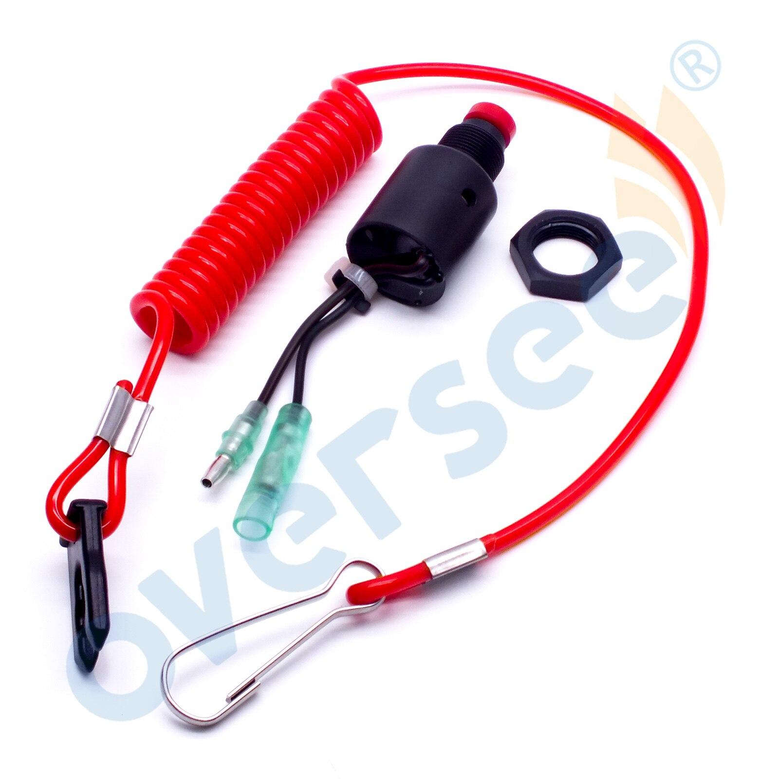 Superviser 36180-ZV5-013 interrupteur d'urgence Assy avec lanière pour Honda moteur hors-bord boîte de commande F40-F150
