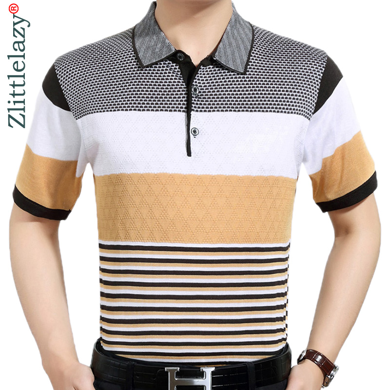 2019 Brand Casual Summer Striped Short Sleeve Polo Shirt Men Poloshirt Jersey Luxury Mens Polos Tee Shirts Dress Fashions 41616