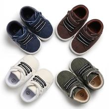 Для Новорожденных Для маленьких мальчиков и девочек кроватки обувь для малышей PreWalker Кроссовки 0-18 м зима весна осень детская повседневная обувь