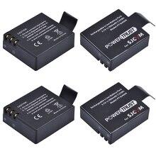 4Pcs Replacement SJCAM SJ4000 Battery for sjcam sj4000 SJ5000 sj5000x SJ6000 sj7000 sj8000 sj9000 wifi SJ M10 Camera