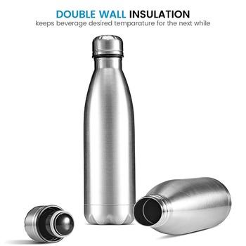 350/500/750/1000ml Double-Wall Insulated Vacuum Flask Stainless Steel Water Bottle Cola Water Beer Thermos for Sport Bottle 5