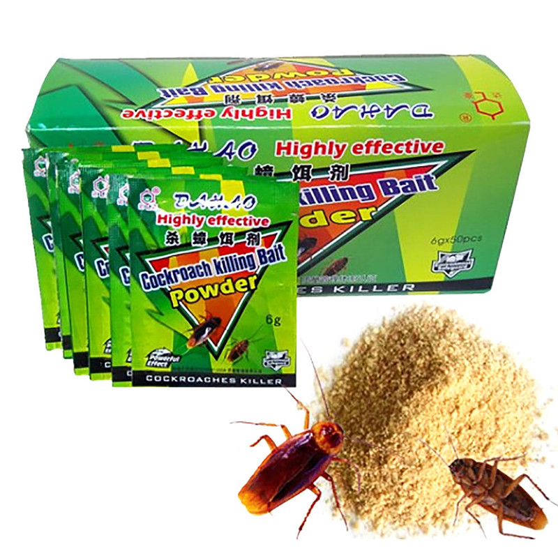 Cockroach Killing Bait Powder Repellent Insecticide Cockroaches Killer Drugs WT
