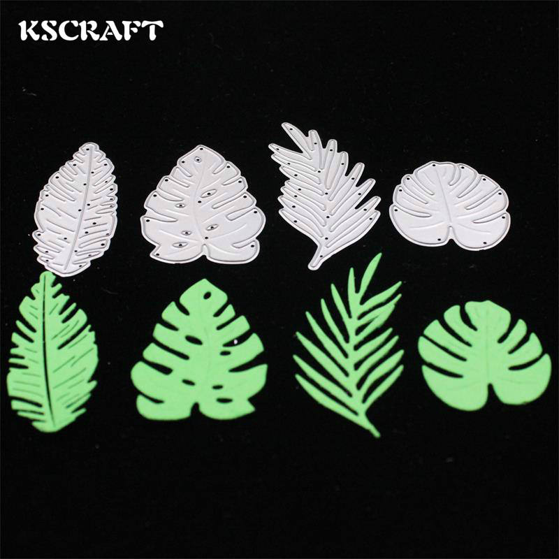 KSCRAFT Tropical Monstera Feuilles De Coupe Dies Pochoirs pour Scrapbooking Bricolage Timbre / album photo Décoratif Gaufrage Cartes DIY