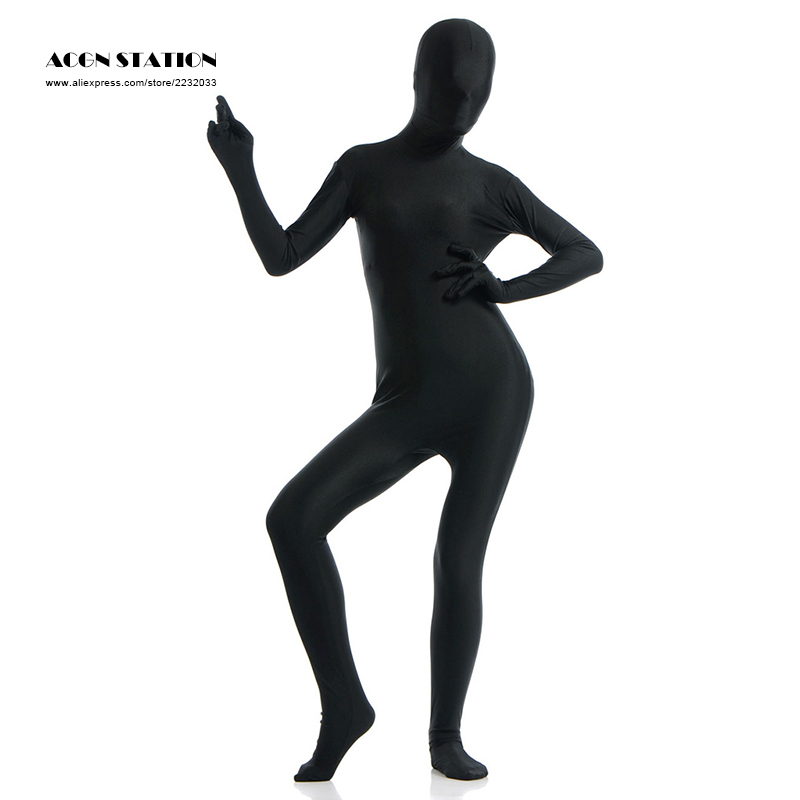 24hours 2017 Black Lycra Spandex Zentai Suit for Women Female Halloween Jumpsuit Romper Rush order/Same day shipping