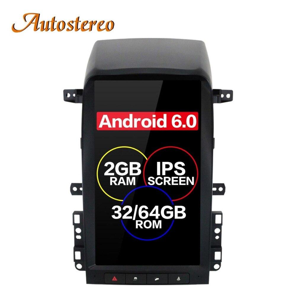 Android 6.0 style Tesla Voiture Pas de Lecteur DVD GPS Navigation Pour Chevrolet Captiva 2008 2009 2010 2011 2012 unité centrale multimédia plus