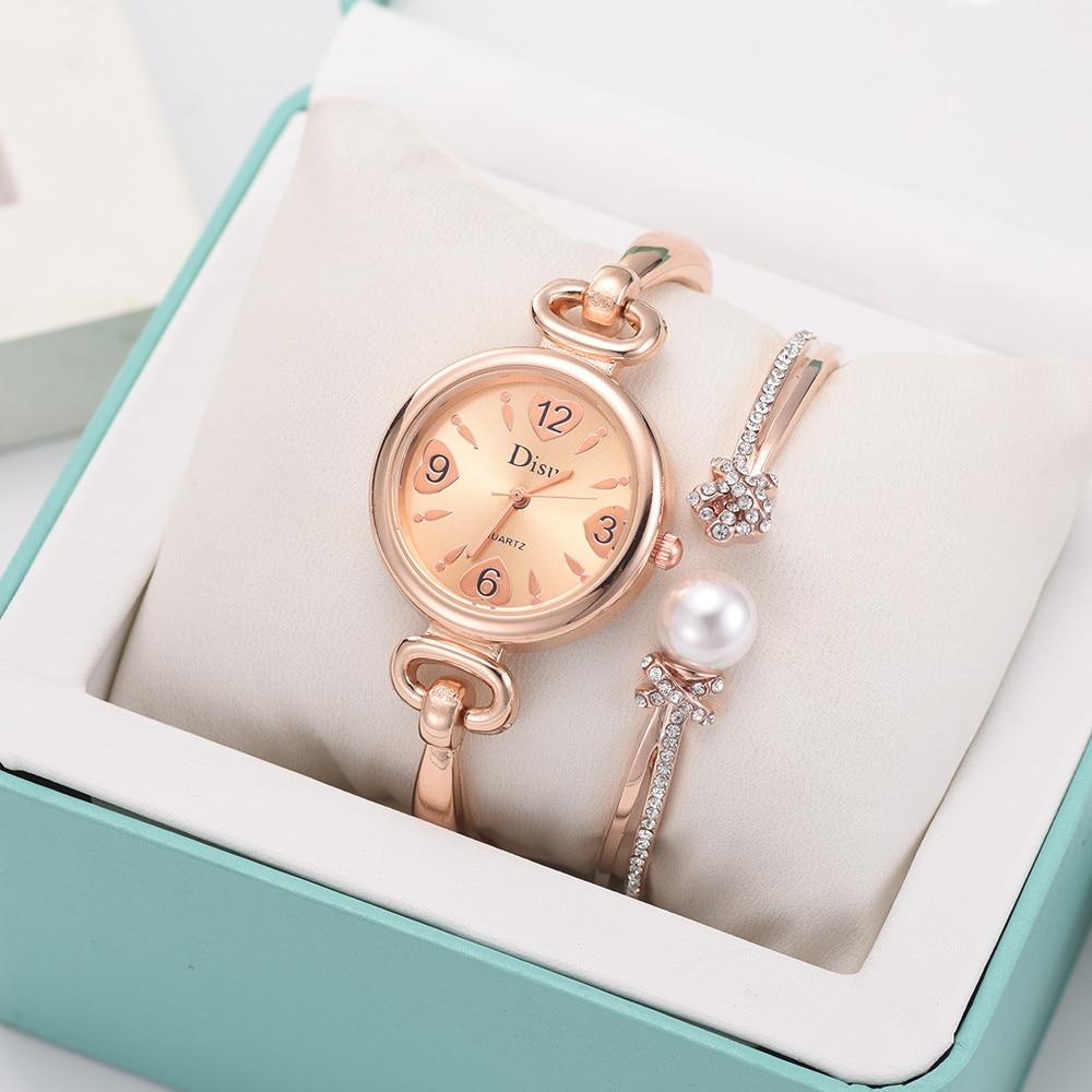 Light Luxury Lady Temperament Watch Leaf Bracelet Set
