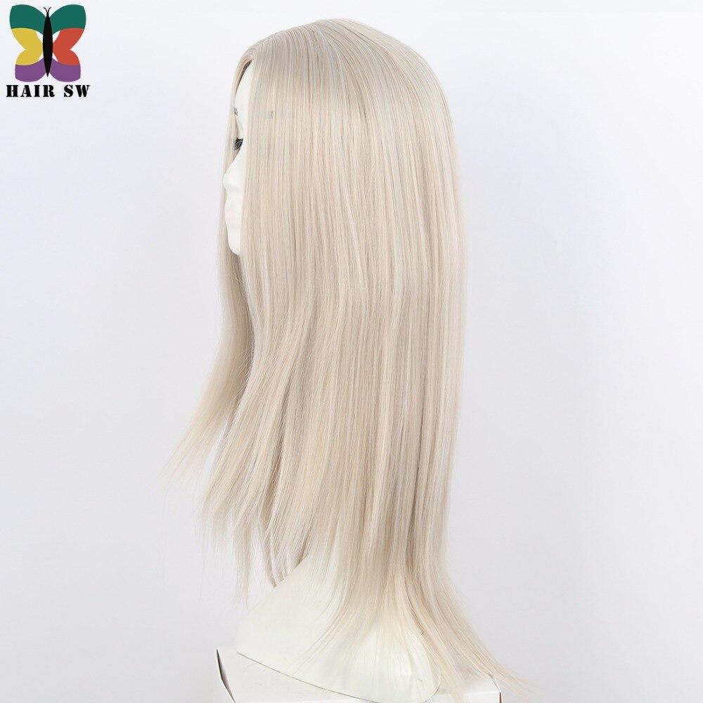 Lång på Ice Childhood Wig Cospaly Blond Syntetisk COS Tecken Wig - Syntetiskt hår - Foto 2