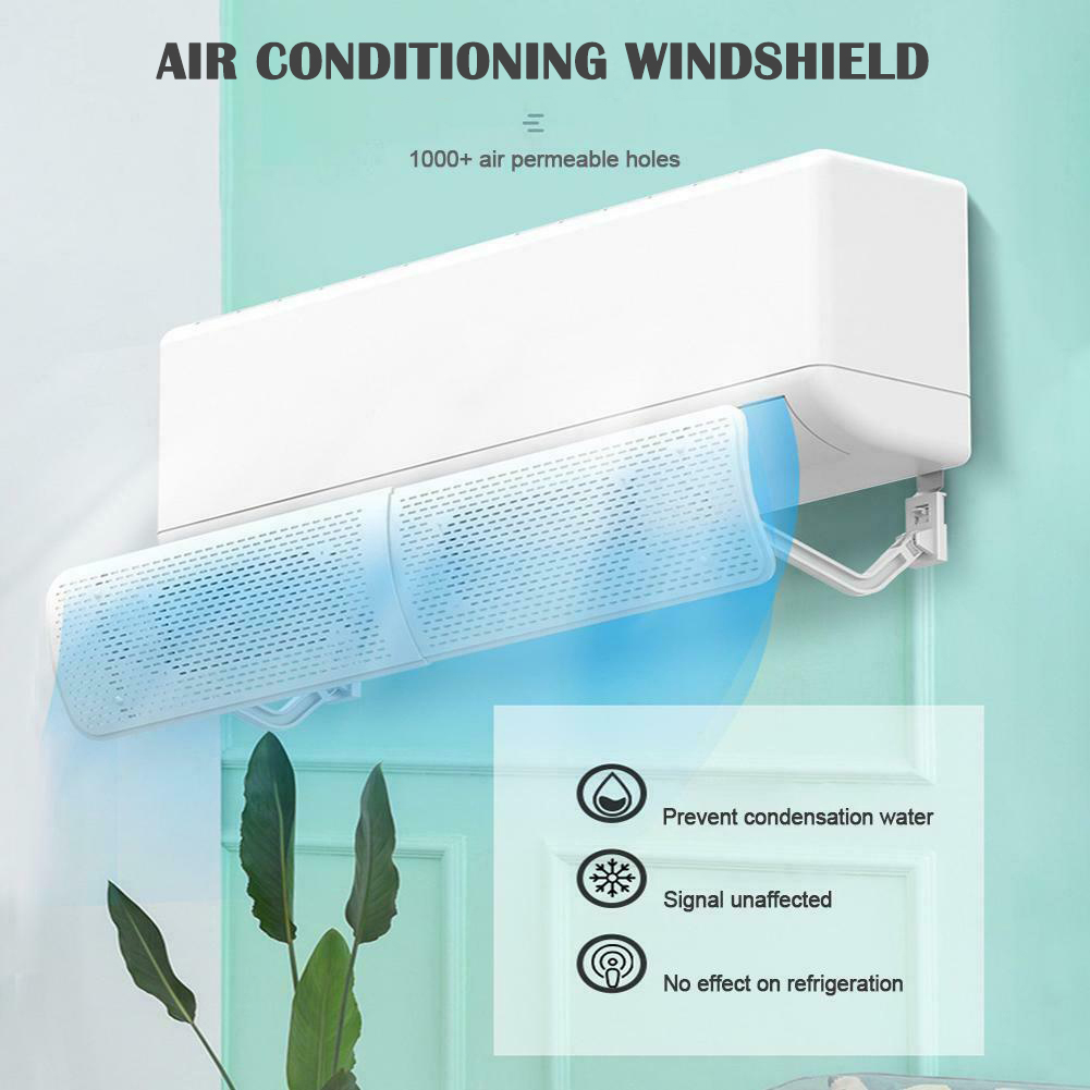 Air Conditioner Deflector Cold Wind Shield Anti Direct Blowing Telescopic Baffle For Home Hotel TN88