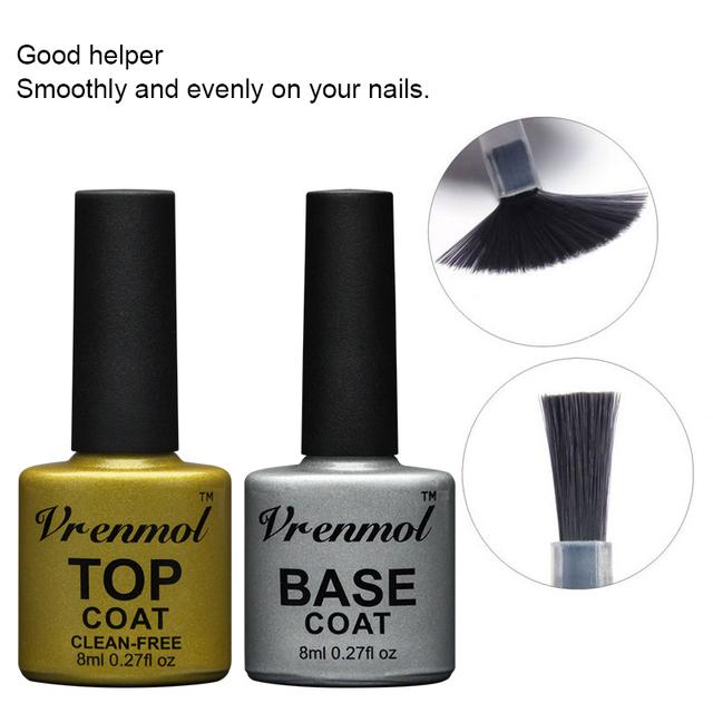 Semi Permenent Top and Base Coat UV Nail Gel