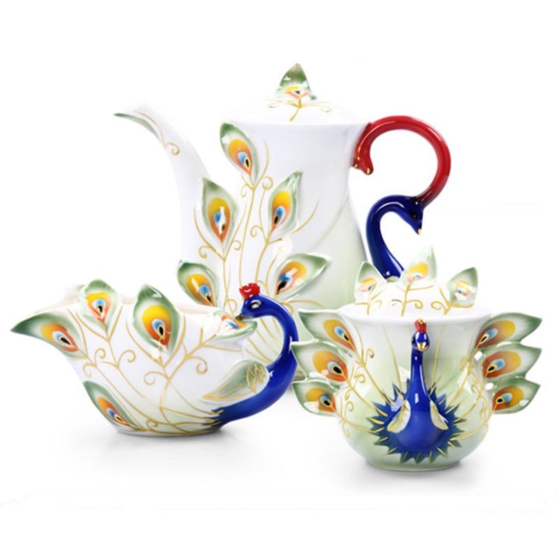 Nowa Emalia 3D Paw Ceramiczny Dzbanek Do Kawy Puszki Cukru Mleko Czajnik Kreatywny Kości Chiny Darmowa wysyłka