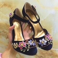 Designer Cage Heel Fashion Crystal Rhinestone Sandals Spring High Heels Women Pumps Wedding font b Shoes