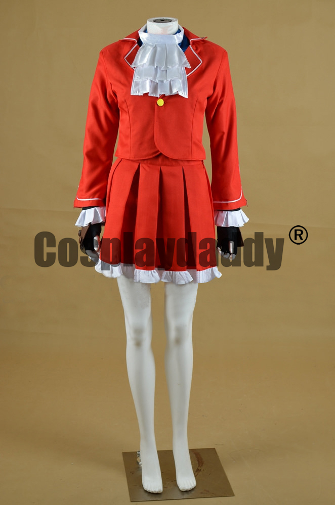 Street Fighter V Granblue Fantasy Karin Kanzuki Uniform Dress Cosplay Costume F006